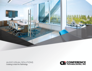 the cover of the Audio Visual Solutions book from Conference Technologies Inc.