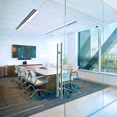 crestron system in an office setting