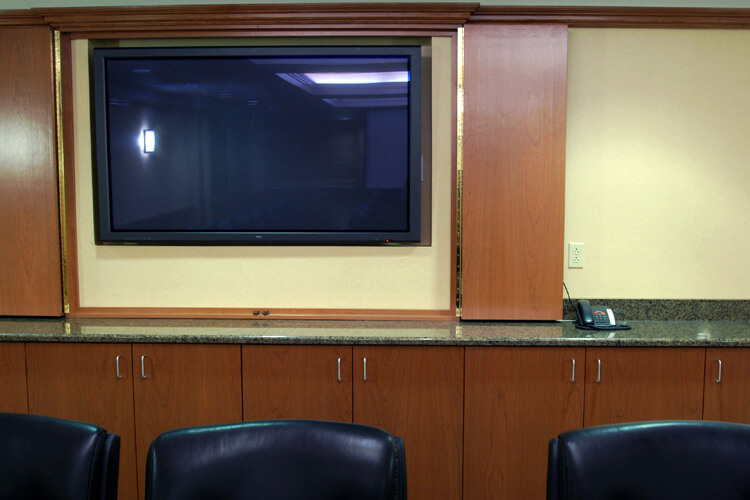 display in a conference room