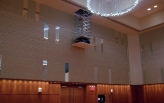 projector that drops down from ceiling