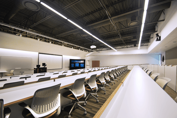 lecture hall with AV equipment