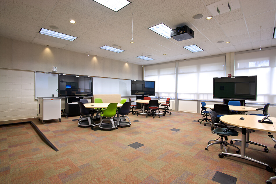 classroom with collaboration technology