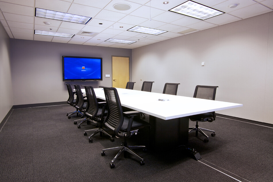 smart board in conference room