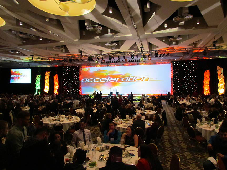 Banquet hall audio visual solutions