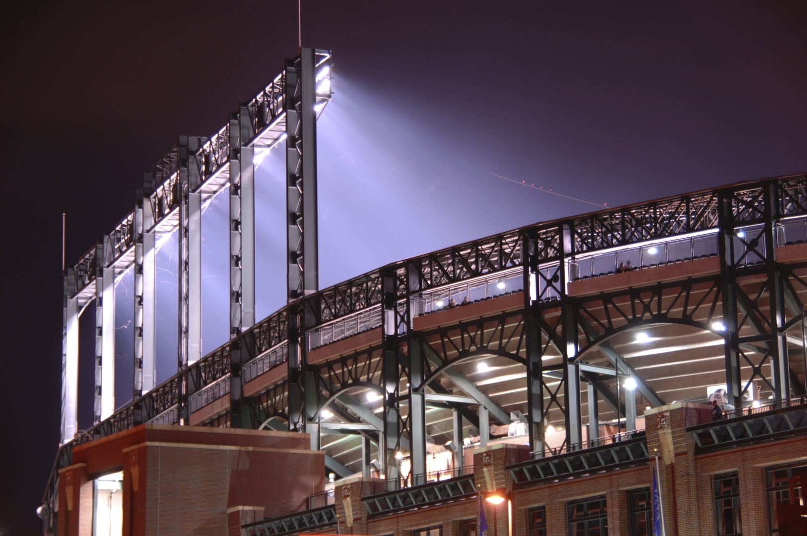 outdoor stadium lights at night