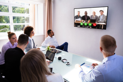 video conferencing user training session