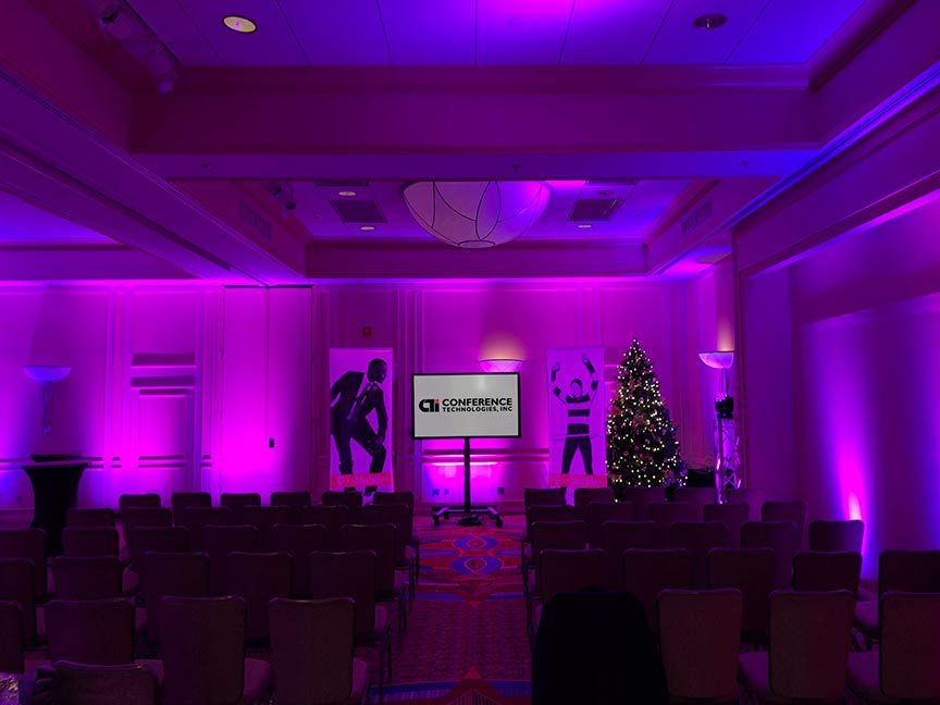 lighting display at a conference