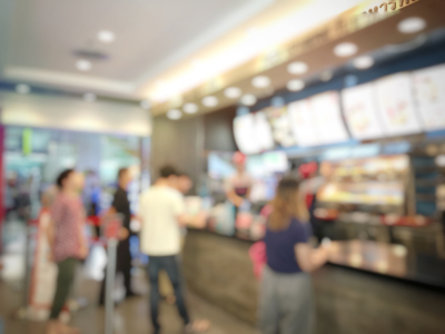 Digital Signage in Fast Food restaurant