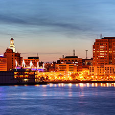 Quad cities skyline