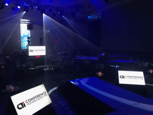 view from the stage at an event