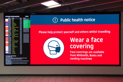 digital signage safety announcement