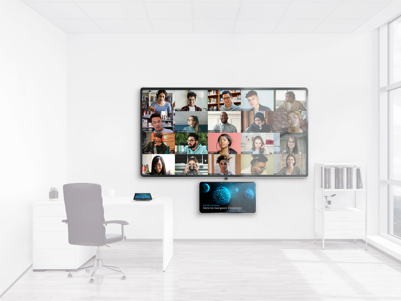 video conferencing in a classroom