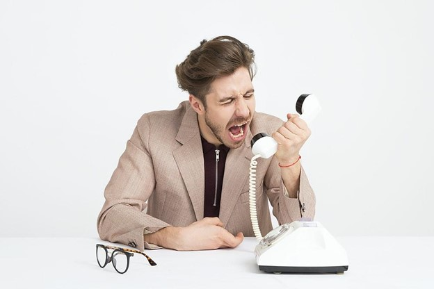 frustrated with phone