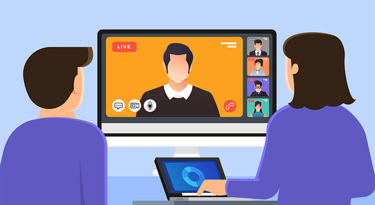 illustration of a video conference